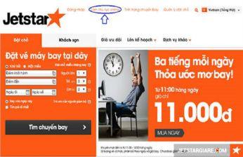 Hướng dẫn check in online Jetstar