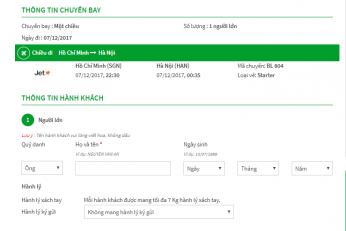Hướng dẫn đặt vé máy bay giá rẻ Vietjet Air qua 8 bước